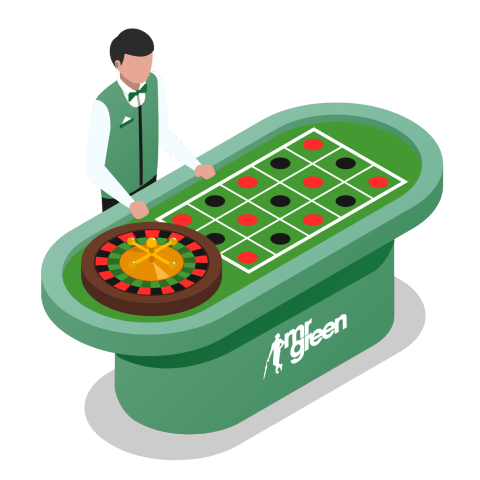 mr green casino live roulette table with dealer