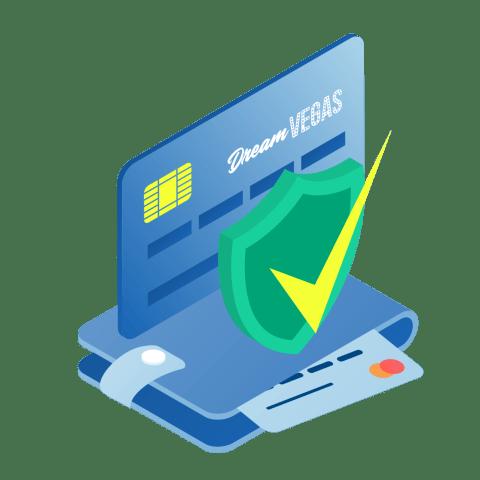 dream vegas credit card in wallet