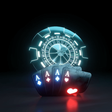 aces and roulette wheel in ceon