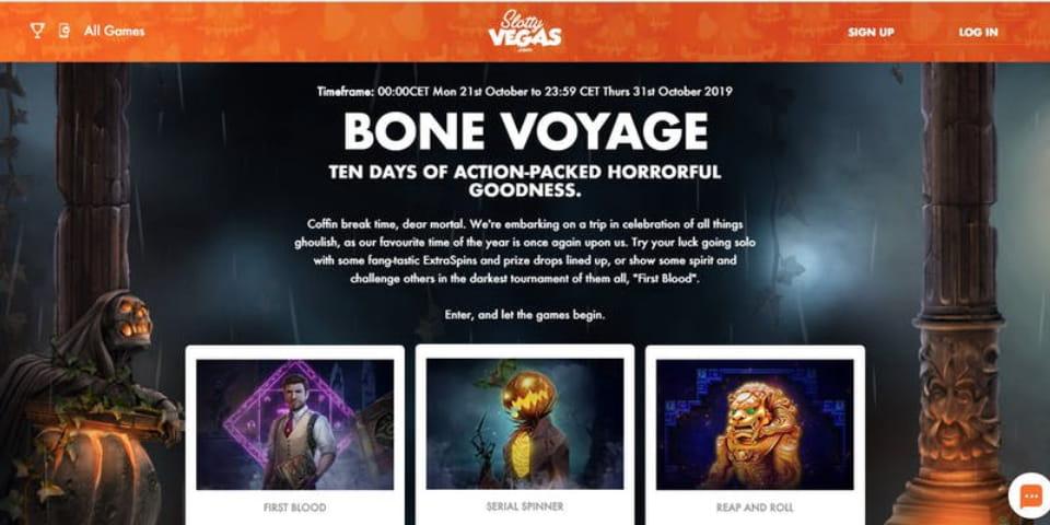 Bone Voyage at Slotty Vegas