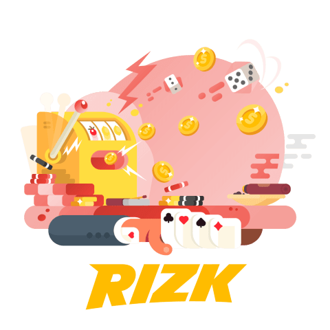 rizk casino logo with slots and card games