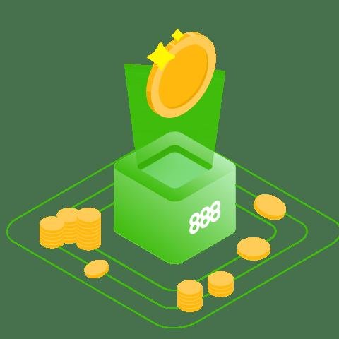 888casino welcome bonus coin